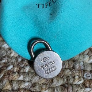 Tiffany & Co. Jewelry - Tiffany & Co Silver Round Lock Pendant